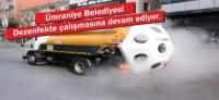 Ümraniye Belediyesi, Mikronsis aracı ile dezenfekte çalışmasına başladı
